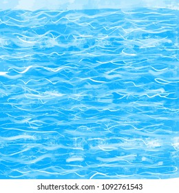 Abstract water background drawing. Vector design concept