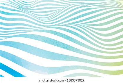 Abstract water texture made by hand painted watercolor texture. Stylized flowing water 3d illusion. Graphic line art.