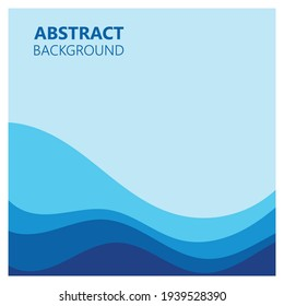 Abstract Water wave vector illustration design background