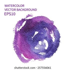 Abstract watercolor art hand paint on white background. Vector design EPS10