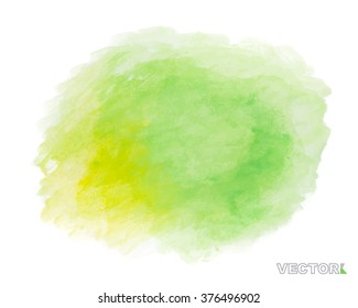Abstract watercolor art paint on white background