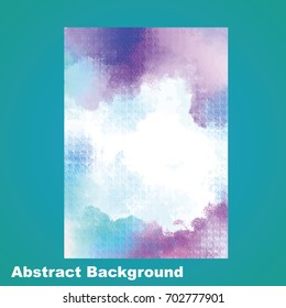 Abstract watercolor background. It is a vector illustration.