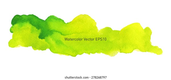 Abstract watercolor colorful background. Dramatic cloud in the sky. Hand drawn painting on texture paper. Vector illustration.