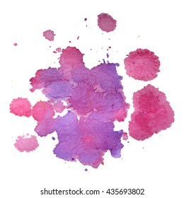 Abstract watercolor colorful gradient background. Vector illustration. Grunge texture for cards and flyers design. A model for the creation of digital brushes