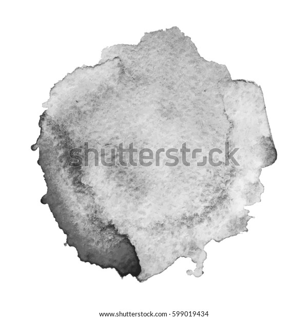Abstract watercolor grayscale background. Vector illustration.