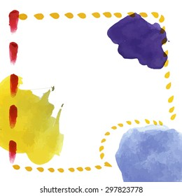 Abstract watercolor hand drawn background for postcards, invitations, etc