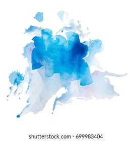 Abstract watercolor on a light background.The color splashing in the paper. Hand drawn Vector illustration