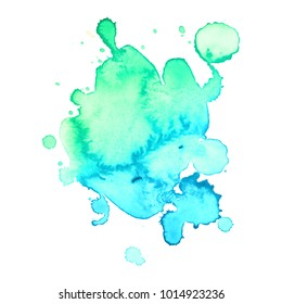 Abstract watercolor spot. Blot in grunge style. To design and decor backgrounds, banners, flyers.