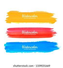 Abstract Watercolor Strokes Design