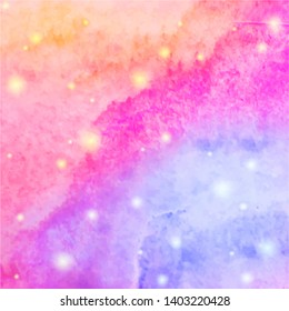 Abstract watercolor texture background. Watercolor pattern. Galaxy sky background