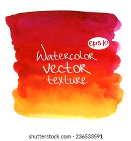 Abstract watercolor vector texture.Hand drawn square paint isolated on white background