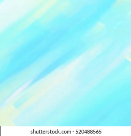 Abstract watercolor wet brush paint cold line element for wallpaper, print. Blue white yellow green pastel color hand drawn paper texture striped stylized vector background for card, text design, web