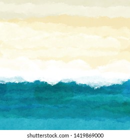 Abstract watercolour beach themed background