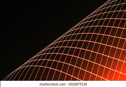 Abstract wave background advertising vector shiny colorful line red black