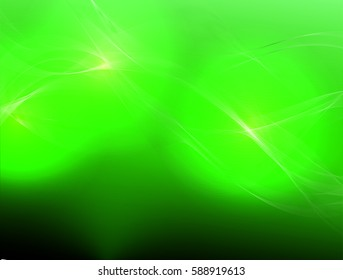 Abstract wave background advertising vector shiny colorful line green