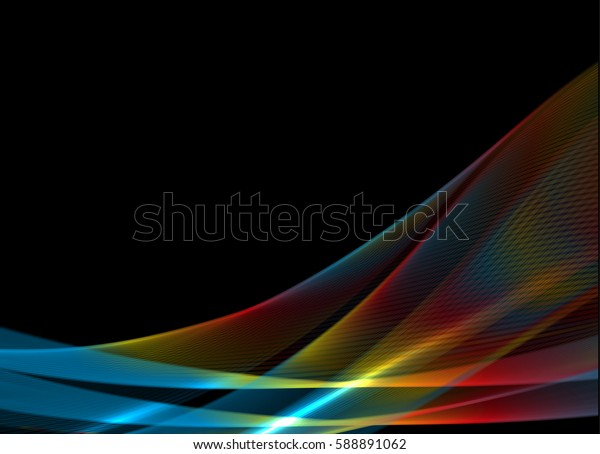 Abstract wave background advertising vector shiny colorful line red
