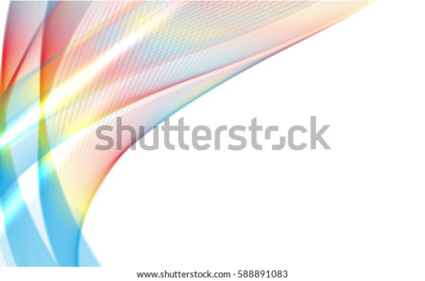 Abstract wave background advertising vector shiny colorful line blue red