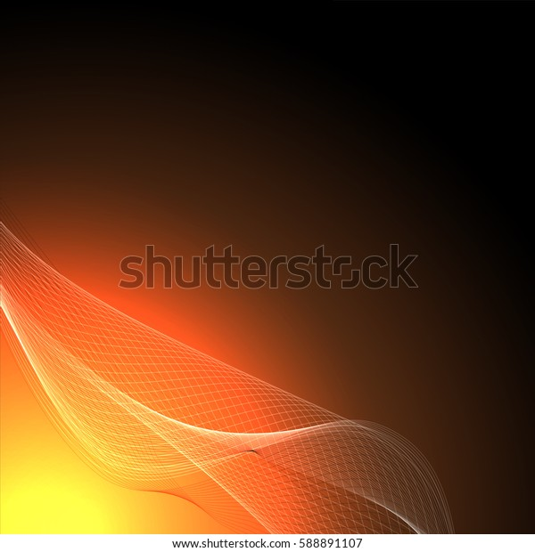 Abstract wave background advertising vector shiny colorful line yellow