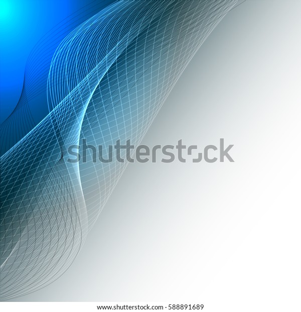 Abstract wave background advertising vector shiny colorful line blue