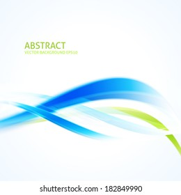 Abstract wave background  - Design Template. Blue and green color curves