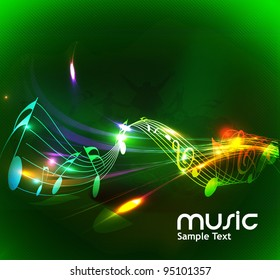 abstract wave background, eps10 vector.