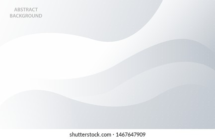 Abstract wave background with light silver element. Modern white background design.