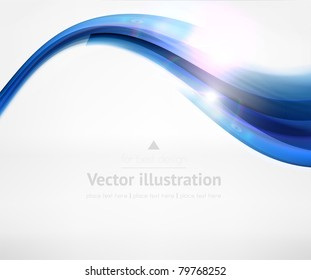 Abstract wave background. Vector illustration