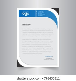 abstract wave business letterhead template