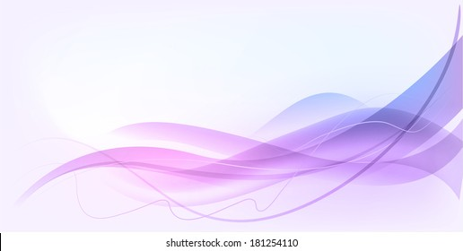 Abstract wave design concept background in blue and purple color