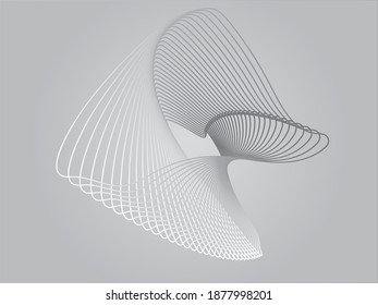 Abstract wave element for design. Digital frequency track equalizer. Stylized line art background. illustration. Wave with lines created using blend tool. Curved wavy line, smooth stripe.