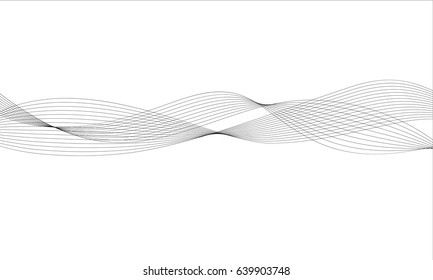 Abstract wave element for design. Digital frequency track equalizer. Vector