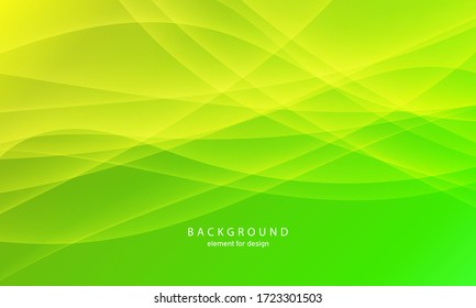 Abstract wave element for design. Green. Digital frequency track equalizer. Stylized line art background. Colorful shiny wave with lines created using blend tool.Curved wavy line, smooth stripe Vector