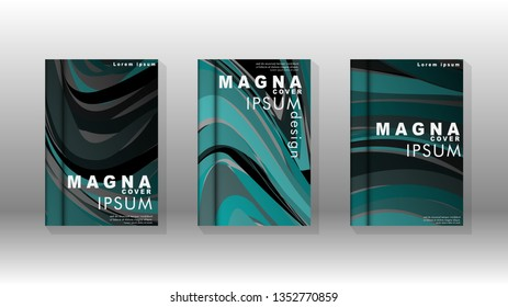 abstract with wave elements. book cover design concept. Futuristic business layout. Digital poster template. Vector Design - eps10
