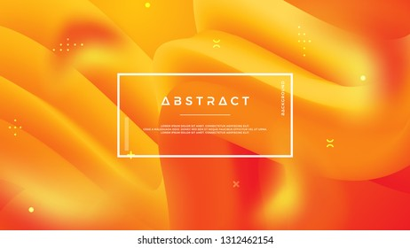 Abstract wave flow background with mixing yellow and orange, can use for posters, template, mobile screen wallpaper, web banner, backdrop and others.