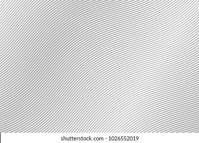 Abstract Wave. Gray Stripes. Curve grey flow. Motion Line. Vector illustration . Curved Lines