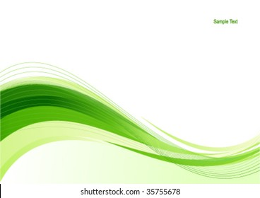 Abstract wave green background for web design, business, green technology and biothematics