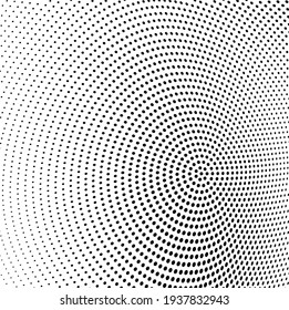 Abstract wave halftone texture. Black dots on a white background. Template for printing on fabric, wrapping paper