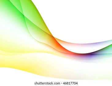 Abstract Wave Internet Background Original Vector Illustration