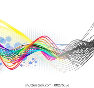 abstract wave line with space of your text background used.