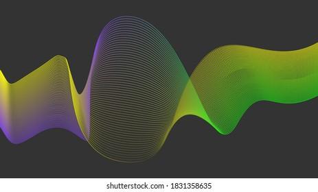 Abstract wave lines on background. Colorful wave .Illustration for modern business design. Flowing lines abstract background color gradient. Vector illustration.