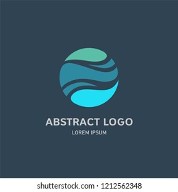 Abstract wave logo icon