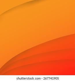 Abstract wave orange background vector illustration