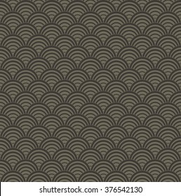 Abstract wave pattern seamless background, Vector illustration