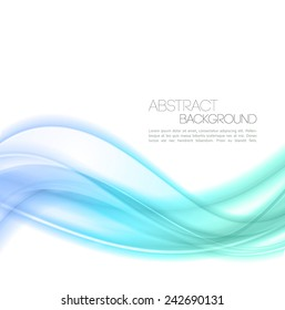 Abstract wave template background