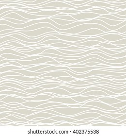 Abstract waved lines vector seamless pattern