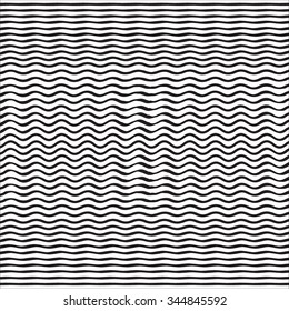 Abstract Waves Pattern. Wavy Lines Background. Vector Illustration.