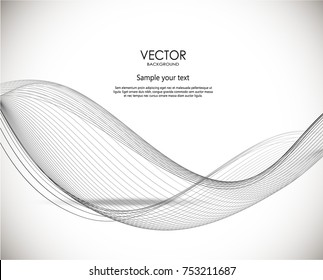 Abstract wave's vector backgroun. Dynamic illustration.