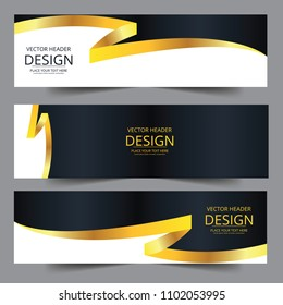 Abstract waves vector in gold colors. Abstract swoosh texture. banner background for web design. Abstract swoosh wave texture background web design abstract card swoosh banners for business finance.