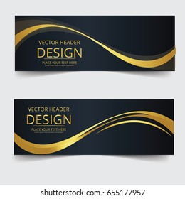 Abstract waves vector in gold colors. Abstract swoosh texture. banner background for web design.abstract swoosh wave texture background web design abstract card swoosh banners for business finance.