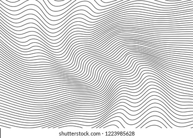 Abstract wavy artistic template. Wave Stripe Background - simple texture for your design. EPS10 vector.